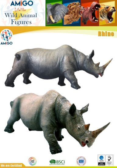 Hot Sale Educational Animal Rhino Toys pictures & photos