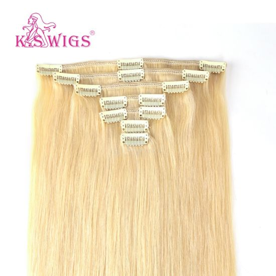 European 100% Virgin Remy Human Clip in Hair pictures & photos