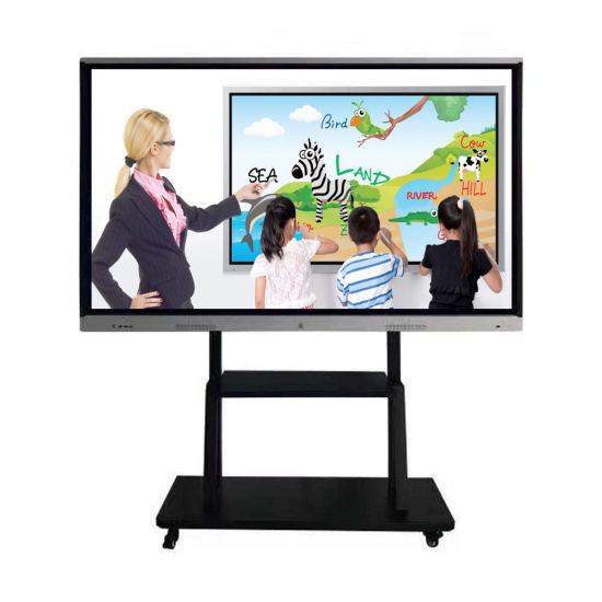 Stylus IR touch writing educational smart whiteboard with OPS