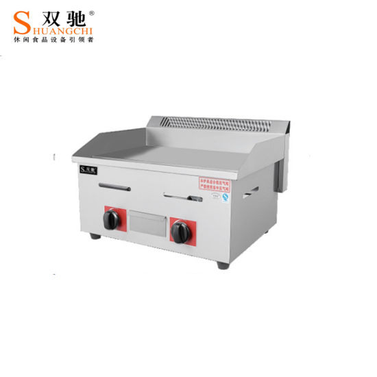 Barbecue Cooking Equipment Gas Griddle with Gas Fryer Grill Cabinet pictures & photos