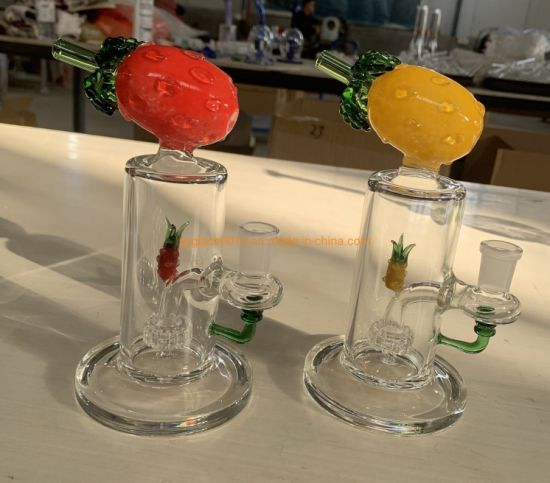 """High Quality 8"""" Oil Rig Glass with 14mm Quartz Banger Nail Glass Smoking Pipes in Stock"""