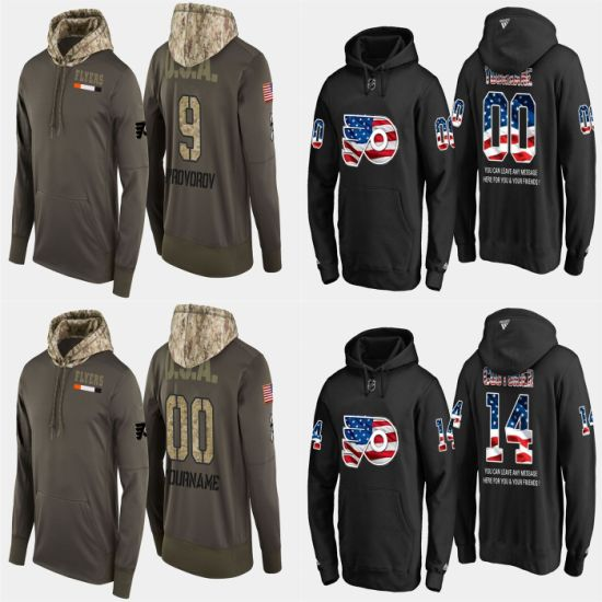 Military USA Flag Flyers Ivan Provorov Sean Couturier Pullovers Hoodies