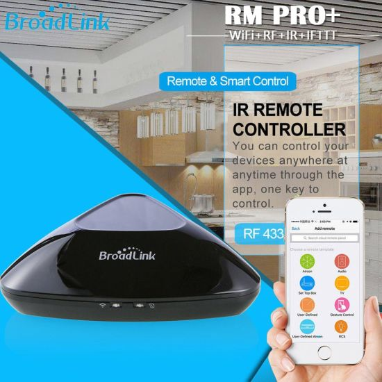 Broadlink Original RM PRO WiFi+IR+RF+4G APP Remote Control Work for Alexa  Google Home Us Adapter Smart Home Automation