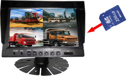 "9"" Monitor Mobile HD DVR 4CH/8CH Display SD Card Recording pictures & photos"