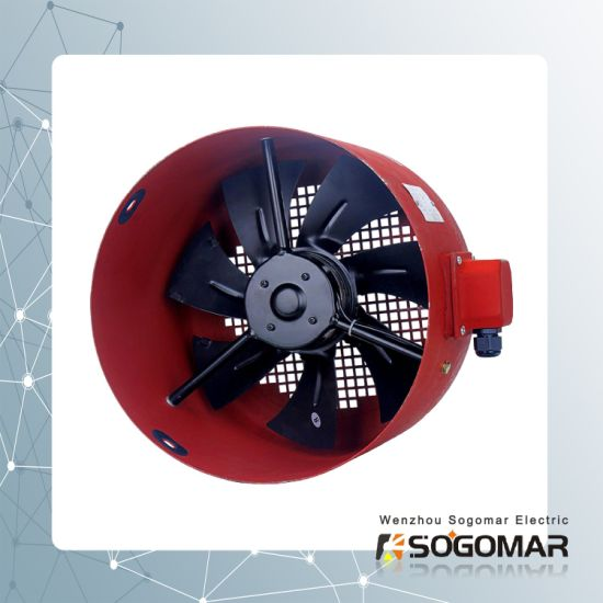 Dia200mm External Rotor Axial Fan with Metal Shell and Blades (SFG-112A)