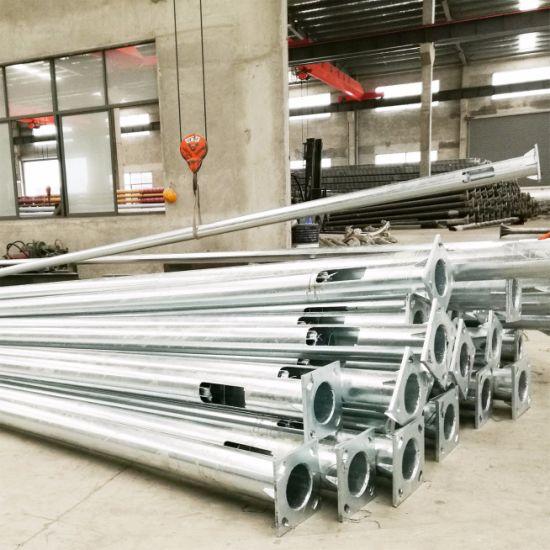 S355 S335 Customized Outdoor Lighting Pole Galvanized Steel Light Pole