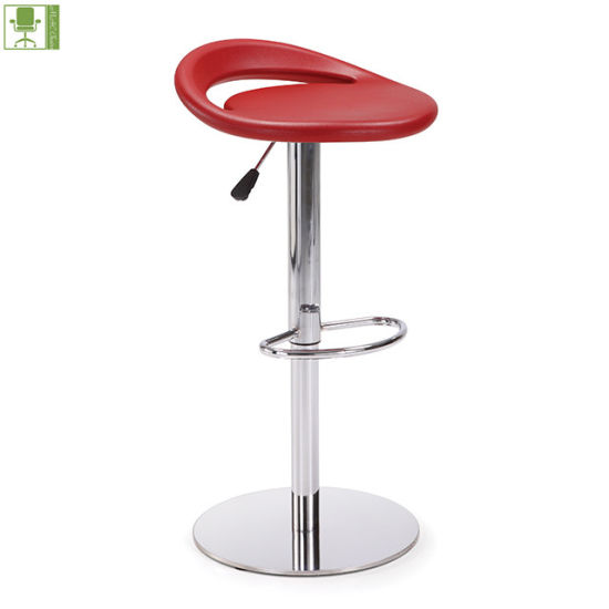 Modern PU Adjustable Bar Kitchen Stool Chair Without Wheels