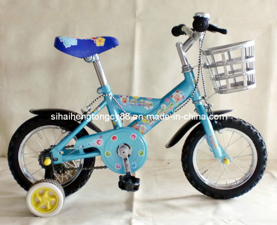 12 Inch Blue Kids Bicycle with Basket (SH-KB013) pictures & photos
