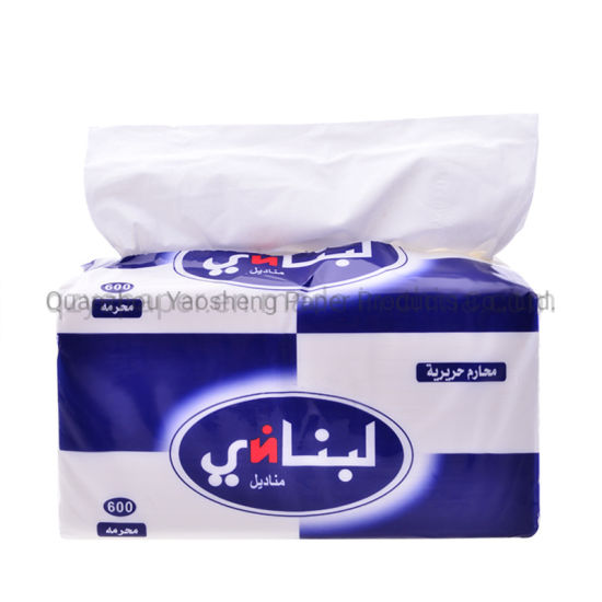Custom Soft Pack Facial Tissue Paper 2ply 3ply 100% Virgin Wood Pulp Material 600 Sheets 800 Sheets Tissue Paper