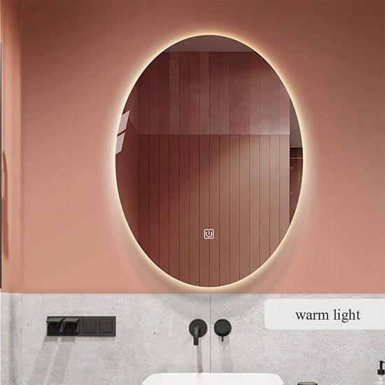 5mm Oval Wall Mounted Illuminated LED Backlit Bathroom Mirror Factory