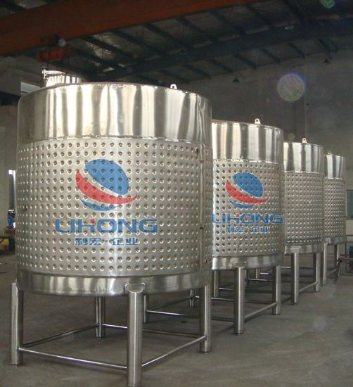 Stainless Steel Conical Wine Storage Pot with Side Manhole
