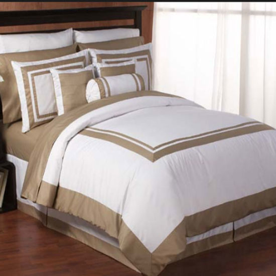 Italian Hotel Satin Stitch White Duvet Cover Traditional Duvet Covers and Duvet (DPFB8085) pictures & photos
