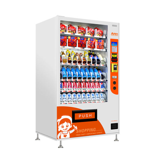 Afen Food Grade Commercial Snack/Beverage and Cold Drink Vending Machine
