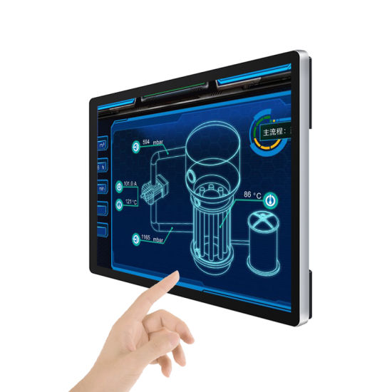 Wall Mounted 32 Inch Capacitive Touch Screen Android Computer Mini PC with Rk3399, 4GB, 8GB