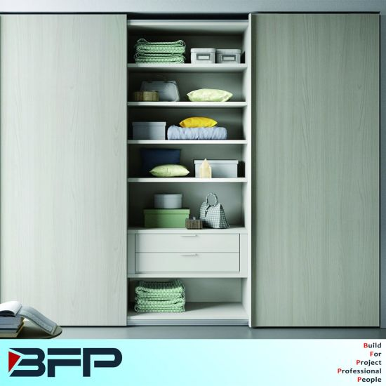 European Melamine Wooden Bedroom Wardrobe Closet In Factory Price