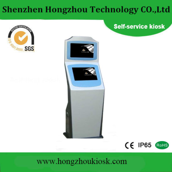 China Supply Self Service Payment Kiosk with Printer, Card Reader