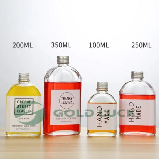 15ml-100ml Clear Crystal White Glass Wine Bottles
