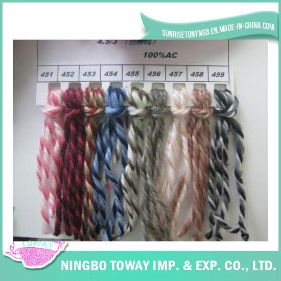 Custom Multicolor Dyed Spinning Knitting 100% Acrylic Yarn