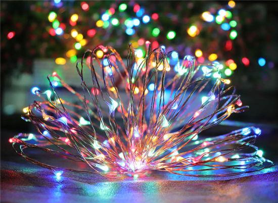 Solar LED Fairy String Light 30 Mini Lights 9.8 Feet Long Starry Firefly Lights, Warm White, Cool White, Colorful