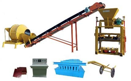 Semi Auotmatic Block Machine Qtj4-40A for Ceiling Block Hourdis