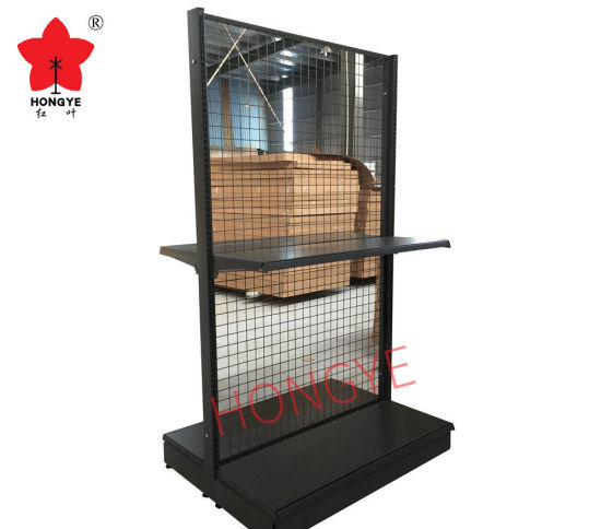 Wire Mesh Back Gondola Supermarket Shelf Rack pictures & photos