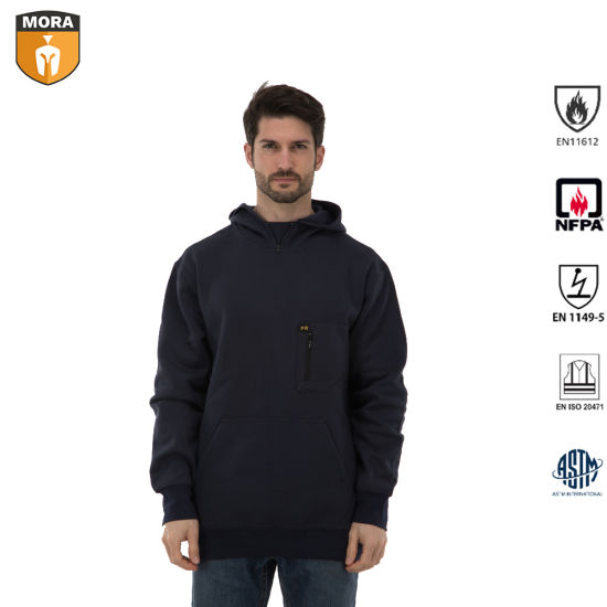 Work Wear Fr Clothing Black Hoodie Cotton with Antistatic pictures & photos