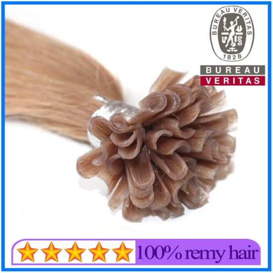 High Quality Brown U-Tip Hair Extension pictures & photos