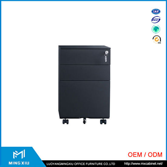 Luoyang Office Furniture Manufactures Hosptial Used Steel Pedestal Steel Mobile Cabinet for Filing Storage