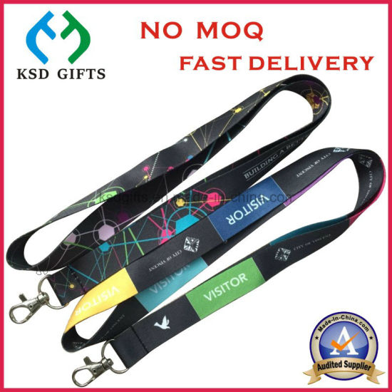 Heat Transfer Printing/Dye Sublimation Printed Polyester Lanyards for Promotion Gift pictures & photos
