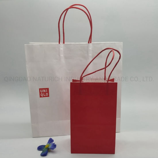 Best Quality Shopping Kraft Paper Eco-Friendly Bags/Paper Bags with Paper Handle