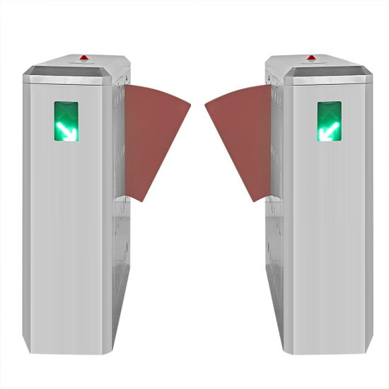 Automatic Card Reader Flap Barrier Turnstile for Public Building