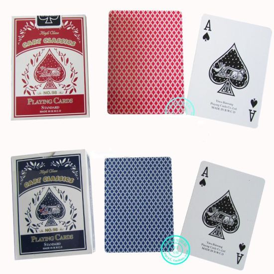 No. 98 Casino Paper Playing Cards/Poker Cards pictures & photos