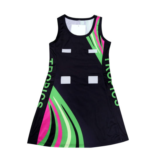 Netball Jersey 2017 Full Sublimation 100%Polyester Netball Dress pictures & photos