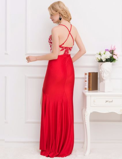 Red New Desings Arrivals Super Customized OEM Services Wholesale Brand Sequined Long Prom Dresses pictures & photos
