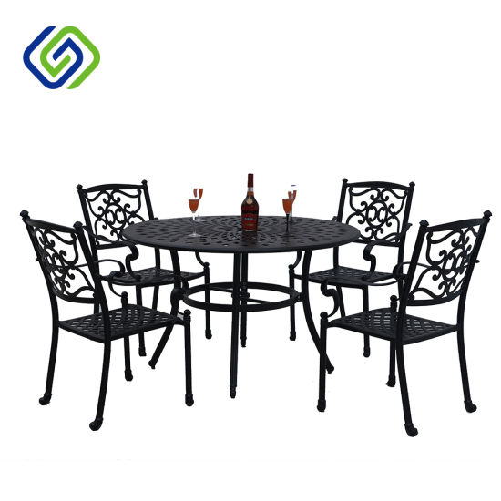 Enjoyable 3 Piece Leaves Design Outdoor Aluminum Porch Balcony Garden Dining Chair And Table Set Furniture Onthecornerstone Fun Painted Chair Ideas Images Onthecornerstoneorg
