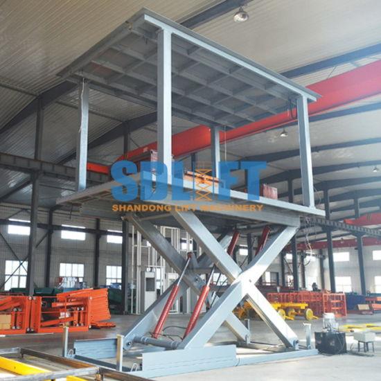 3t 3m Hydraulic Scissor Auto Car Parking Lift with Ce