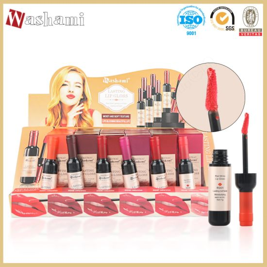 Washami Red Wine 24 Hours Long Lasting Lip Gloss Private Label