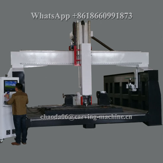 5 Axis CNC Machine 5 Axis CNC Router for 3D Big Large EPS Foam Styrofoam Polystyrene Polyurethane Wood Stone Marble Grantie Sculpture Car Ship Boat Yacht Mould pictures & photos