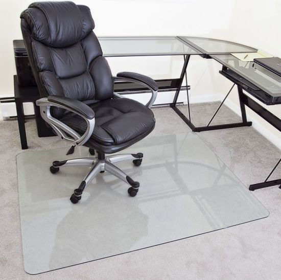 Polished Edge Clear Tempered Glass Furniture Board Chair Mat