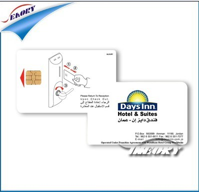 Customized Printing RFID Card Contact Smart IC Chip Card for Access Control pictures & photos