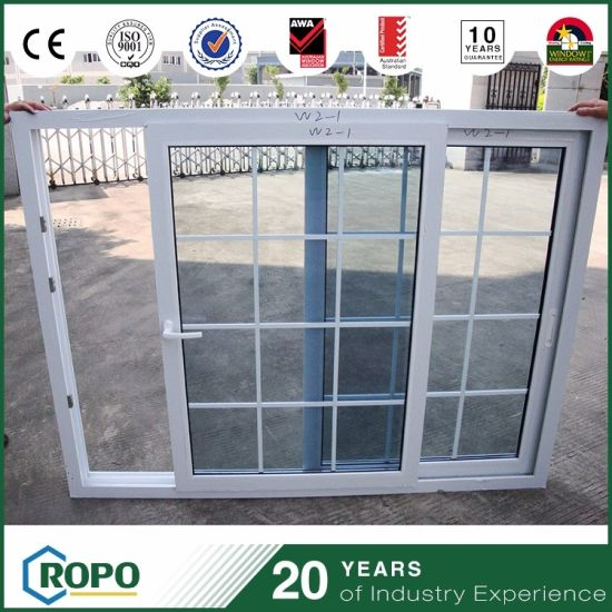China Multi Chamber Pvc Profile Sliding Window Grill Design China