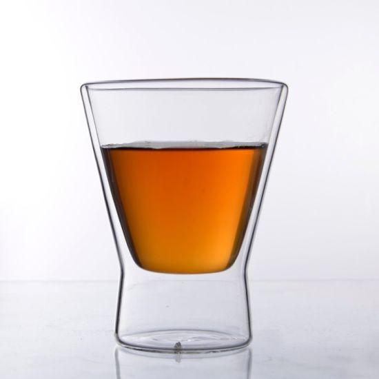 AB59B96-A High Quality Handmade Borosilicate Cold Resistant Double Wall Glass Beer Cup Glass Mug
