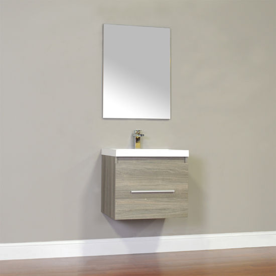 Cheaper Price Cabinet Wall Mounted Melamine Bathroom Sink Vanity with Ceramic Basin pictures & photos