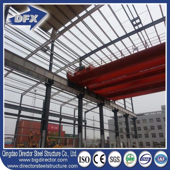 Steel Frame Workshop with Crane Steel Structures Design