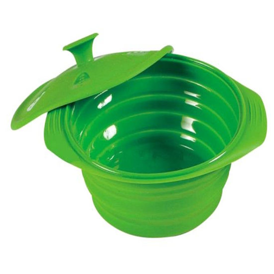 Factory Wholesale Cute Camping Fruit Bowl Salad Bowl Silicone Collapsible Food Bowl