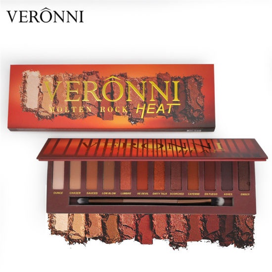 2018 Hot Sale Veronni 12 Colors Molten Rock Heat Eyeshadow Palette pictures & photos