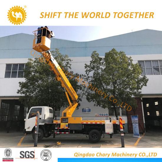 High Lifting Platform Truck, Hydraulic Aerial Cage, Catenary Installation Car