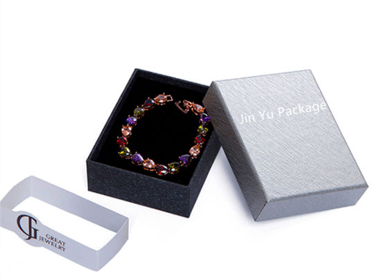 China Silver Paper Bracelet Gift Jewellery Packaging Boxes With