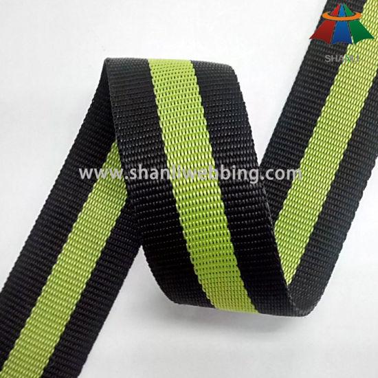 38mm PP / Polypropylene Striped Color Webbing