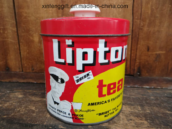 Lipton Tea Tin Box with Printing Custom Artwork pictures & photos
